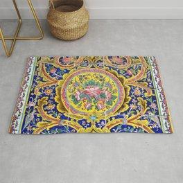 Floral Persian Tile Rug