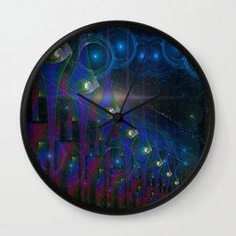 Scifi Gates Abstract Art Wall Clock