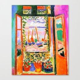 Henri Matisse Open Window Canvas Print