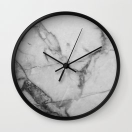 White Howlite Wall Clock