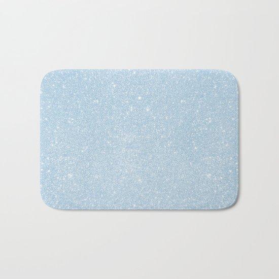 Pastel Blue Glitter Bath Mat