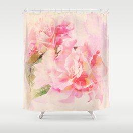 douces fleurs roses Shower Curtain