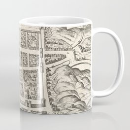Vintage Map of Edinburgh Scotland (1581) Coffee Mug