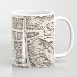 Vintage Map of Edinburgh Scotland (1581) Coffee Mug