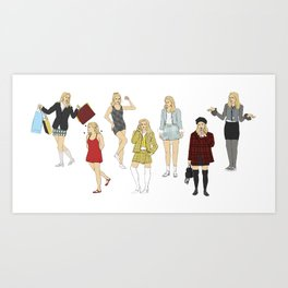 cher's outfits Art Print