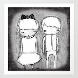 Indigo Twins Art Print