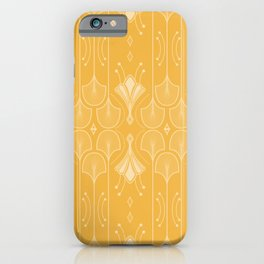 Lily Lake - Retro Floral Pattern Curry iPhone Case