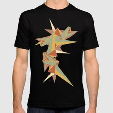 Abstract Crane Mens Fitted Tee Black MEDIUM