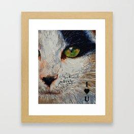 I Love You Cat Framed Art Print