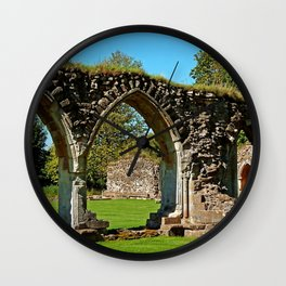 Hailes Abbey ruins. Wall Clock