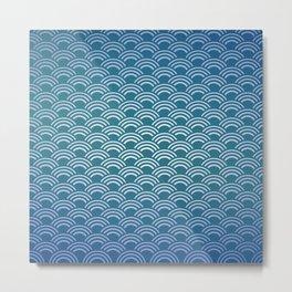 Japanese Wave Pattern Metal Print