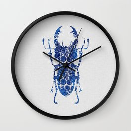 Blue Beetle III Wall Clock