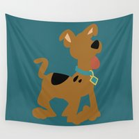 puppy Wall Tapestries featuring Puppy Scooby by karla estrada