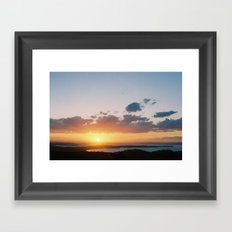 sun over water Framed Art Print