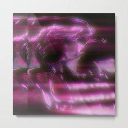 Skull (Electrified) Metal Print