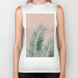 Soft Green Palm Leaves Dream - Cali Summer Vibes #1 #tropical #decor #art #society6 Biker Tank