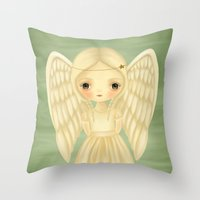 virgo Throw Pillows featuring Virgo by The Midnight Rabbit