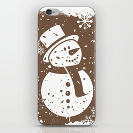 Friendly Snowman iPhone Skin