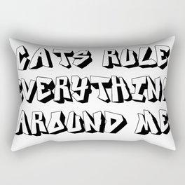 Cats Rule Everything Around Me Print Rectangular Pillow