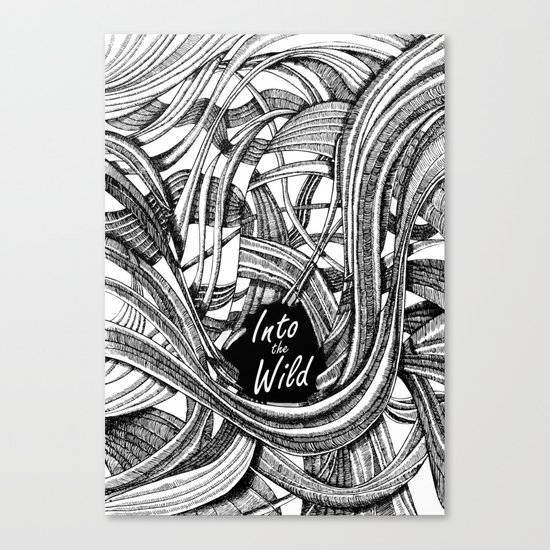 Into The Wild (b&w version) Canvas Print
