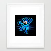 megaman Framed Art Prints featuring Megaman by likelikes