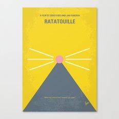 No163 My Ratatouille minimal movie poster Canvas Print