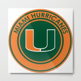 Hurricanes of Miami Metal Print