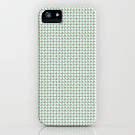 Amphibians Hopping Houndstooth Pattern iPhone Case