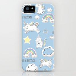 I'm a Unicorn - blue iPhone Case