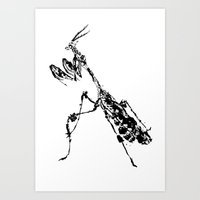 Violin Mantis Art Print