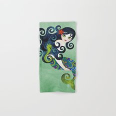Aquamarine Mermaid Hand & Bath Towel