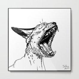 Nude cat Metal Print