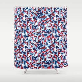 Break the Glass Ceiling! Red White & Blue Shower Curtain