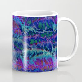 Purple Blue Fire Pattern Coffee Mug