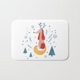 Merry Christmas Dog Card 1 Bath Mat