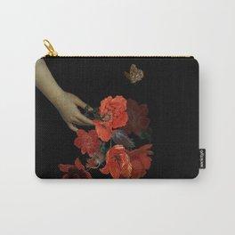 Jan Davidsz. de Heem Midnigh Hand Holding Bouquet Of Flowers I Carry-All Pouch