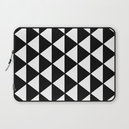 Black And White Triangles Pattern Laptop Sleeve