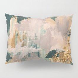 Teal and Gold Abstract- 24K Magic Pillow Sham