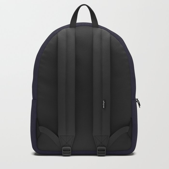 Full Moon on Navy English Backpack