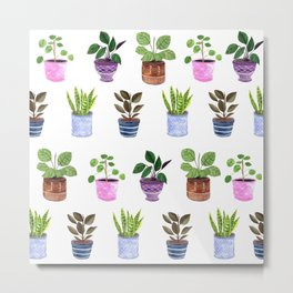 Houseplants 2.0 Metal Print