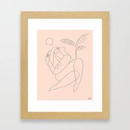Licorice lips, honeypot mouth Framed Art Print
