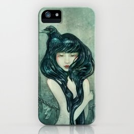 Oracle of the sodden raven iPhone Case