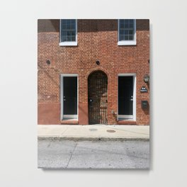 Twin Doors but a Bricked Entrance? Metal Print
