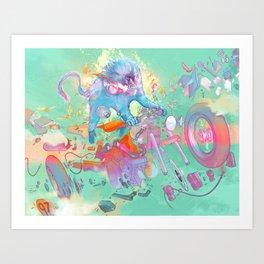 Pretty when you cry Art Print