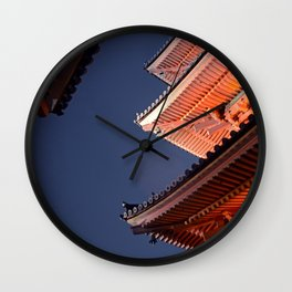 Temple Roofs Wall Clock