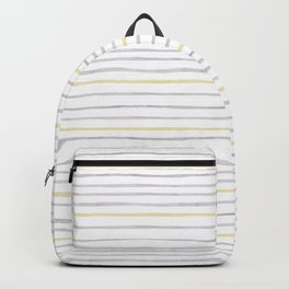 yellow and grey stripes Backpack