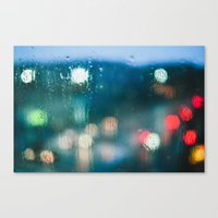 Blurred Raindrops Canvas Print