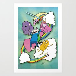 Finn Jake and Friends Art Print