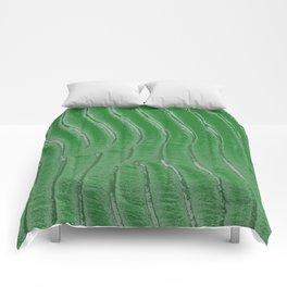 Green velvet Comforters