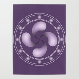 LAUBURU IN PURPLE (abstract geometric symbol) Poster